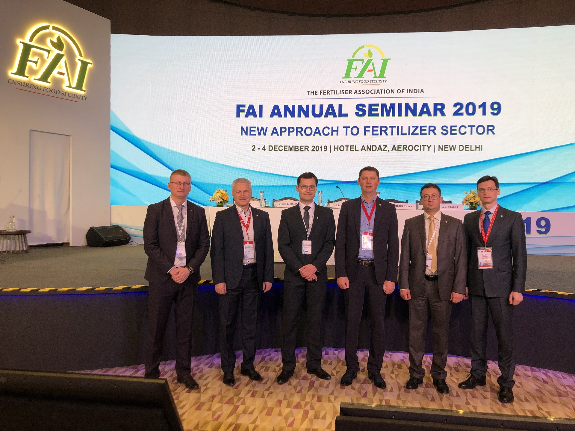 On December 2-4th, 2019, NIIK's delegation took part in the Fertilizer Association India Annual seminar 2019 in New Delhi, India